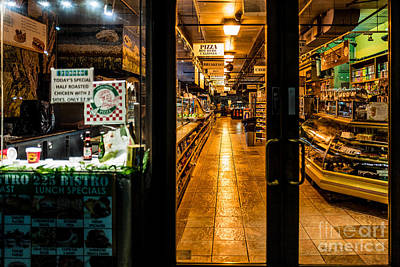 Photograph - Night Deli by M G Whittingham