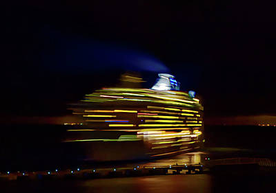 Photograph - Night Departure by Tatiana Travelways