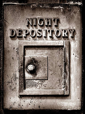 Photograph - Night Depository by Olivier Le Queinec