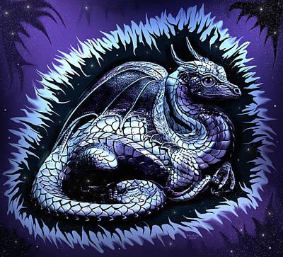Digital Art - Night Dragon by Artful Oasis