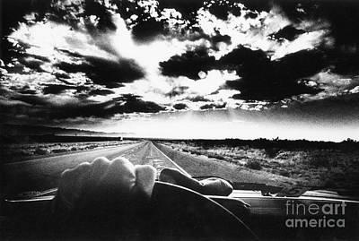 Photograph - Night Driving, Texas by Simon Marsden