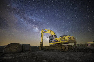 Photograph - Night Excavation  by Aaron J Groen