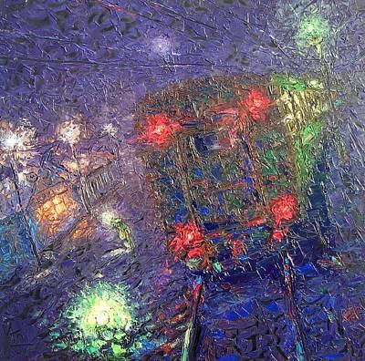 Night Express. 2010 Art Print by Ivan KRUTOYAROV