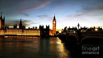Photograph - Night Falling On London by John Rizzuto