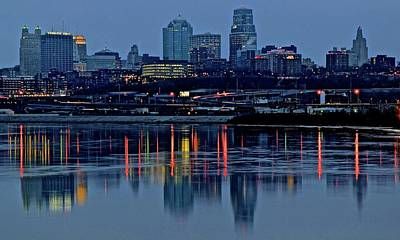 Photograph - Night Falls At Kaw Point by Frozen in Time Fine Art Photography