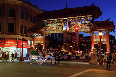 Photograph - Night Falls In Chinatown by Keith Boone