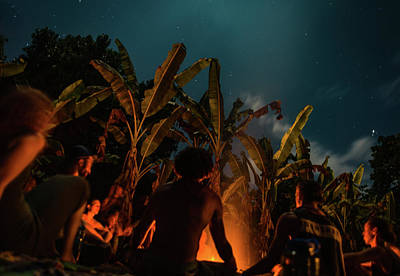 Photograph - Night Fire Meditation by T Brian Jones