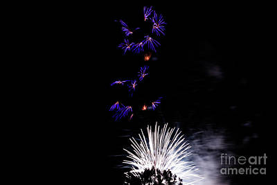 Photograph - Night Fireworks by Suzanne Luft