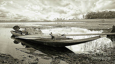 Digital Art - Night Fishing Boat by Ian Gledhill