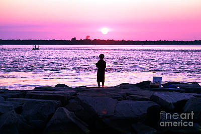 Photograph - Night Fishing On Long Beach Island by John Rizzuto