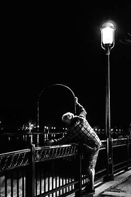 Photograph - Night Fishing On The Fox River by Jeanette Fellows