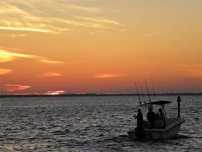 Sky Photograph - Night Fishing by Ric Schafer