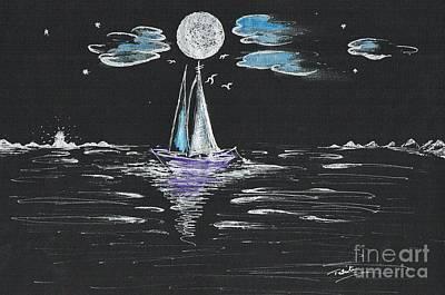 Night Fishing Print by Teresa White