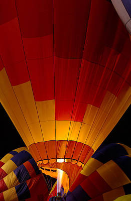 Balloons Photograph - Night Flight by Mike  Dawson