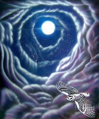 Pastel - Night Flight Owl by Michaeline McDonald