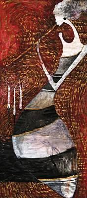 Painting - Night Flute by Maya Manolova