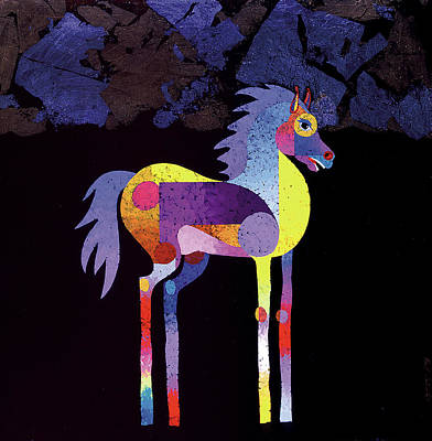 Painting - Night Foal by Bob Coonts