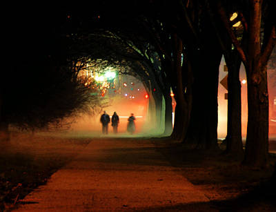 Photograph - Night Fog In The City by Francesa Miller