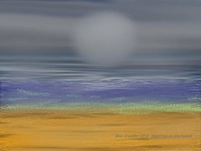 Digital Art - Night Fog On The Beach by Dr Loifer Vladimir