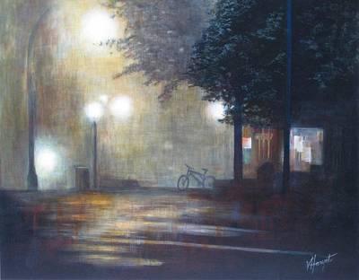 Night Fog Art Print by Victoria Heryet