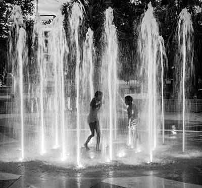 Photograph - Night Fountain by Gregory Daley  PPSA