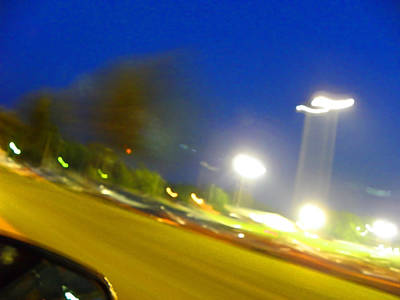 Photograph - Night From The Car by Elizabeth Hoskinson