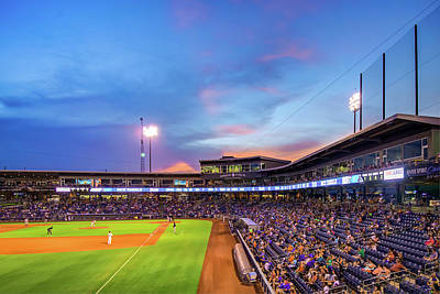Photograph - Night Game - Tulsa Drillers Baseball - Oneok Field by Gregory Ballos