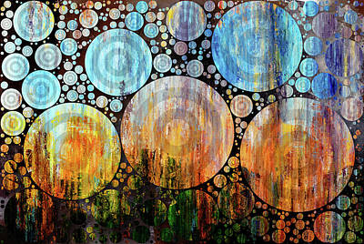 Mixed Media - Night Garden Grunge Decorative Abstract by Georgiana Romanovna