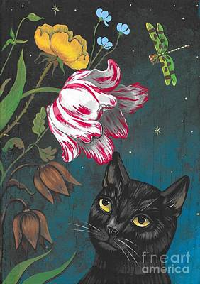 Painting - Night Garden by Margaryta Yermolayeva