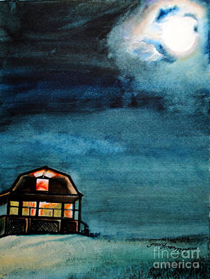 Painting - Night Glow by Tracy Rose Moyers