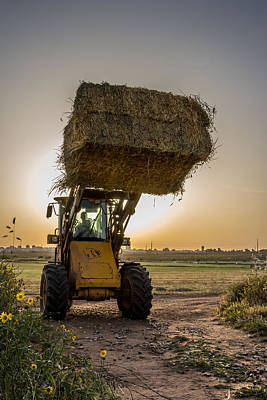 Photograph - Night Harvesting by Mark Perelmuter