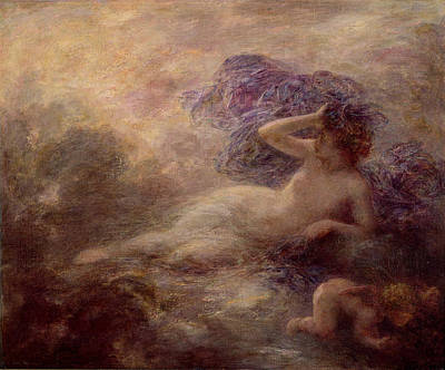 Shrouded Painting - Night by Ignace Henri Jean Fantin Latour