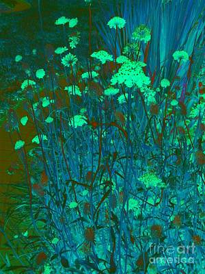 Digital Art - Night In Bloom by Nancy Kane Chapman