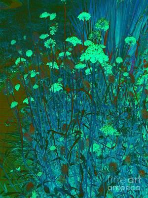 Digital Art - Night In Bloom by Nancy Kane Chapman