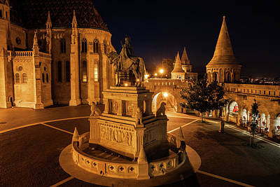 Photograph - Night In Castle District Of Budapest City by Artur Bogacki