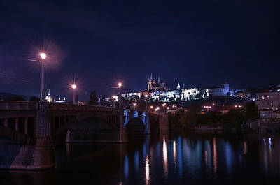 Photograph - Night In Old Prague by Jenny Rainbow