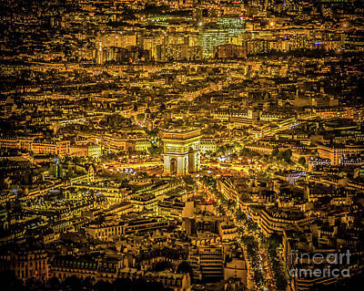 Photograph - Night In Paris by Perry Webster