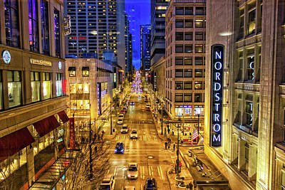 Photograph - Night In Seattle by Jason Butts