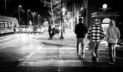 Penn State Photograph - Night In State College, Pennsylvania by Phillip Schafer
