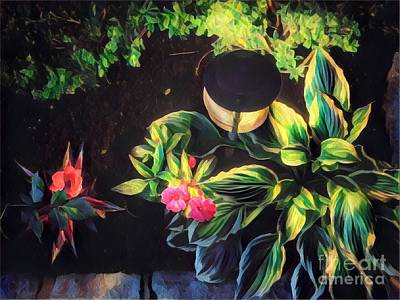 Photograph - Night In The Garden by Miriam Danar