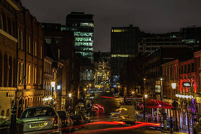 Birmingham Photograph - Night In The Jewellery Quarter by Chris Fletcher