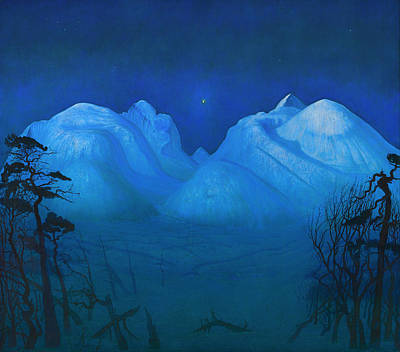 Night In The Mountains Art Print by Mountain Dreams