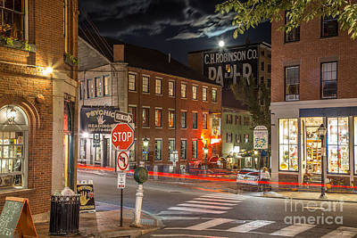 Maine Landscape Photograph - Night In The Old Port by Benjamin Williamson