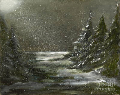 Painting - Night In The Pines by Carol Sweetwood