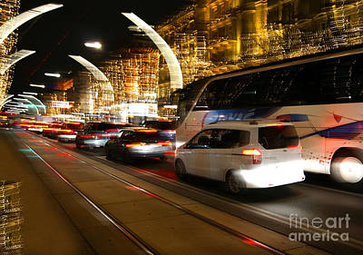 Photograph - Night In Vienna City by David Birchall