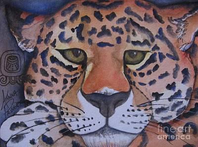 Mayan Jaguar Painting - Night Jaguar by Ahnna Galena