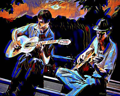 Digital Art - Night Jammin by Pennie McCracken