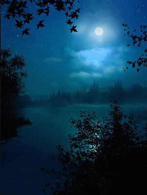 Night Lake Art Print by Robert Foster