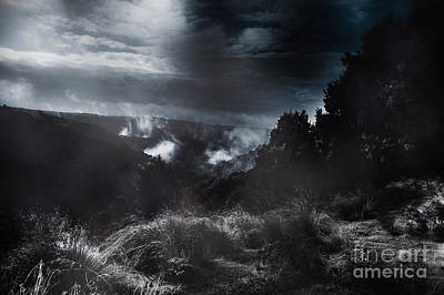 Photograph - Night Landscape. Australian Mountain View by Jorgo Photography - Wall Art Gallery