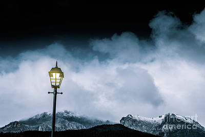 Night Landscape In Queenstown Tasmania Art Print